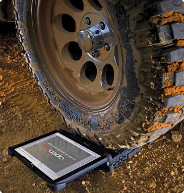Opentec Notebook Under Tyre